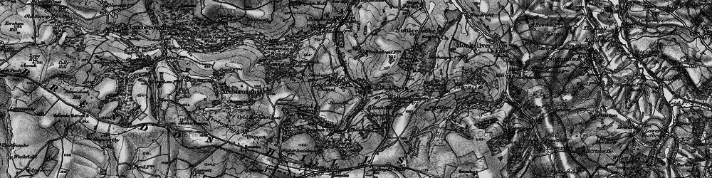 Old map of Timwood in 1898
