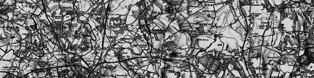 Old map of Leighswood in 1899