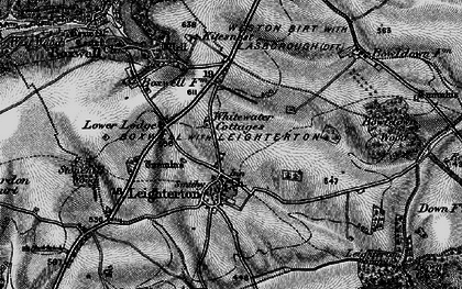 Old map of Leighterton in 1897
