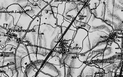 Old map of Leire in 1898