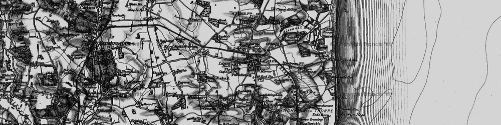 Old map of Leiston in 1898
