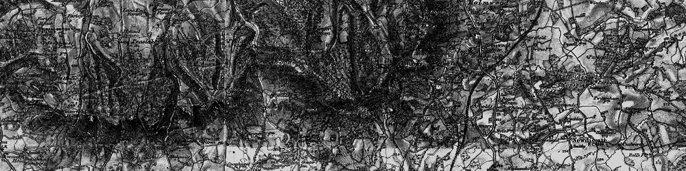 Old map of Leith Hill in 1896