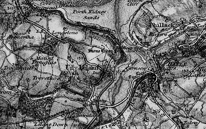 Old map of Lelant Saltings Sta in 1896