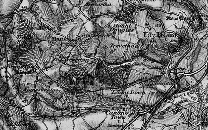 Old map of Lelant Downs in 1896