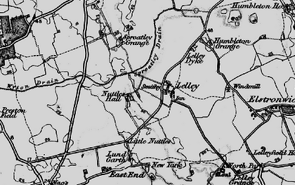 Old map of Lelley in 1895