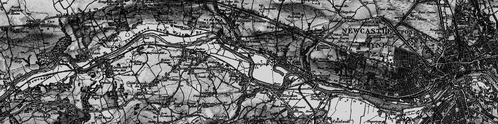 Old map of Lemington in 1898