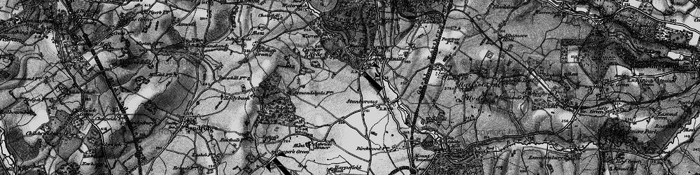 Old map of Lemsford in 1896