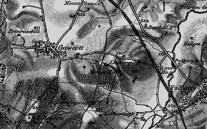Old map of Lenborough in 1896