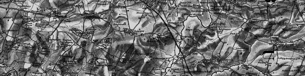 Old map of Lenborough in 1896