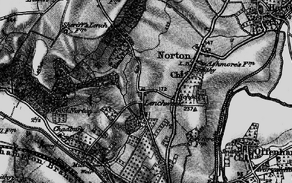 Old map of Lenchwick in 1898