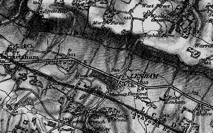 Old map of Lenham in 1895
