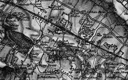 Old map of Lenham Forstal in 1895