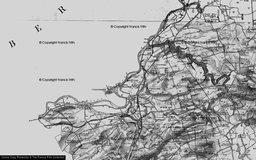 Old Map of Historic Map covering Lennelhill in 1897