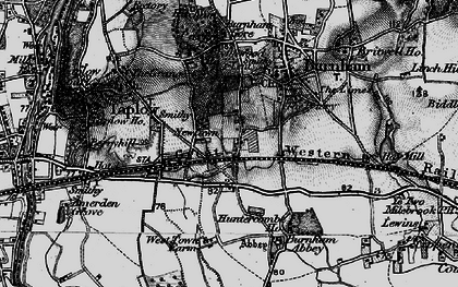 Old map of Lent Rise in 1896