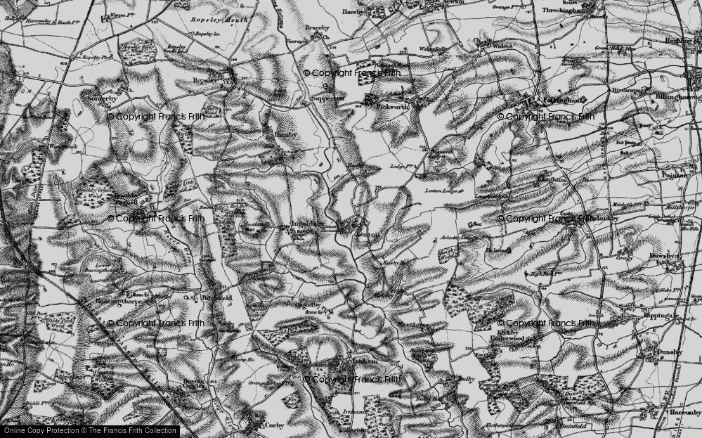 Old Map of Lenton, 1895 in 1895