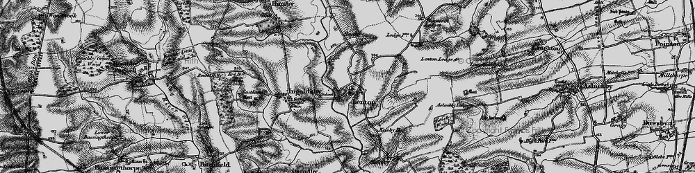 Old map of Lenton in 1895