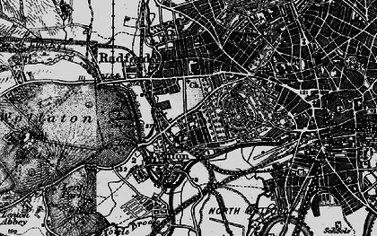 Old map of Lenton in 1899