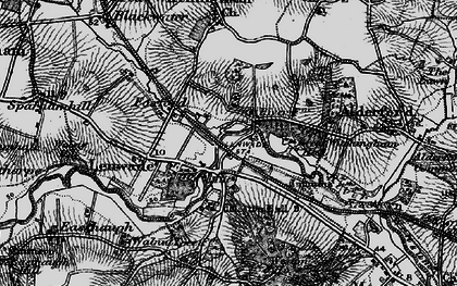 Old map of Lenwade in 1898