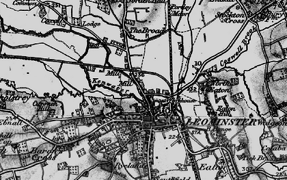 Old map of Leominster in 1899