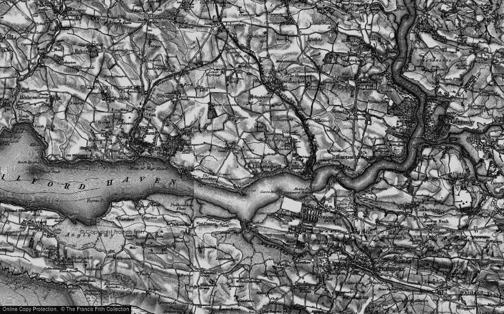 Old Map of Leonardston, 1898 in 1898