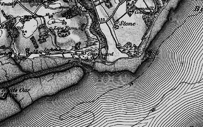 Old map of Lepe in 1895