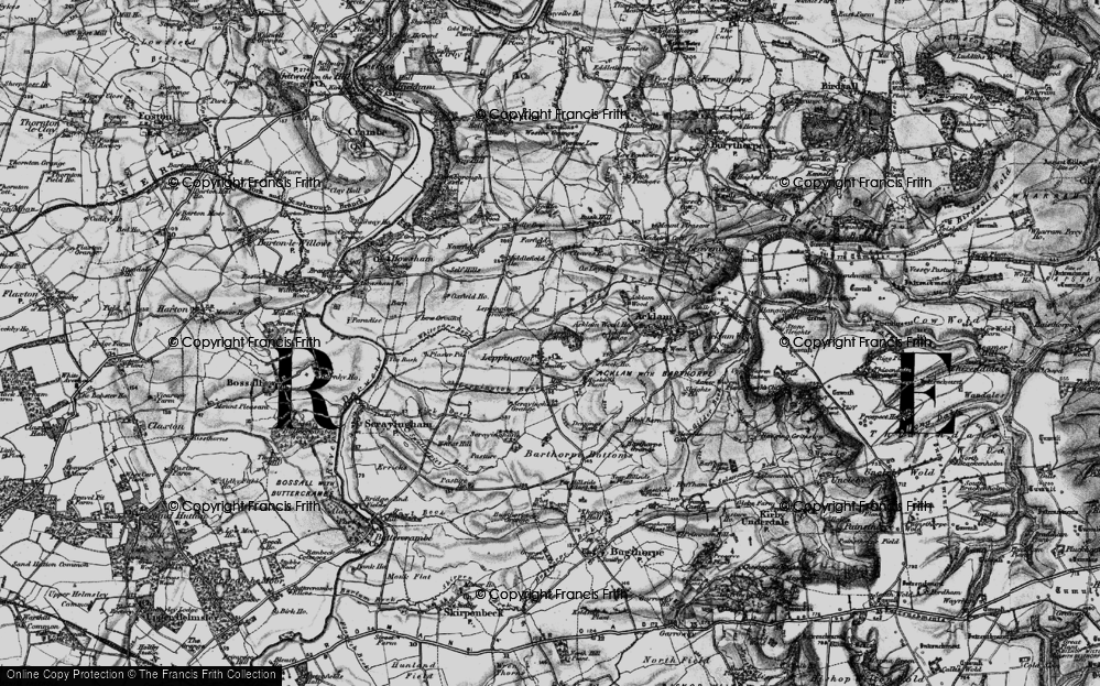 Old Map of Historic Map covering Acklam Wood in 1898