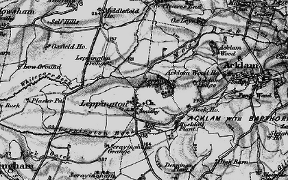Old map of Leppington Wood in 1898