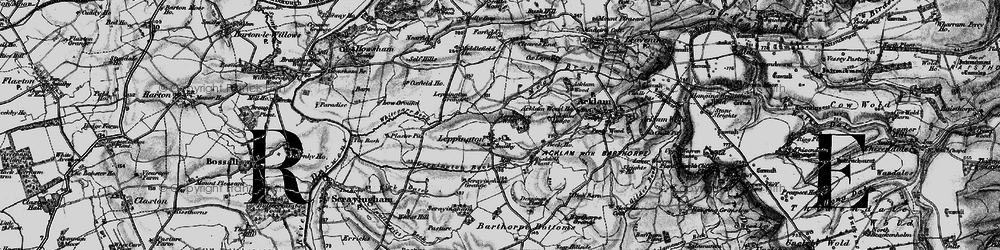Old map of Acklam Lodge in 1898