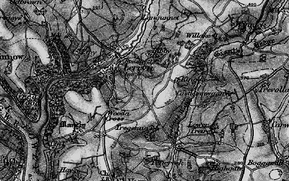 Old map of Collon in 1896