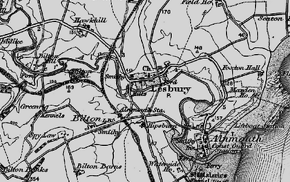 Old map of Lesbury in 1897