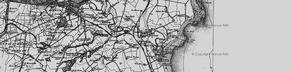 Old map of Alnmouth Sta in 1897