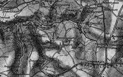 Old map of Lesnewth in 1895