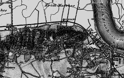 Old map of Lessness Heath in 1896
