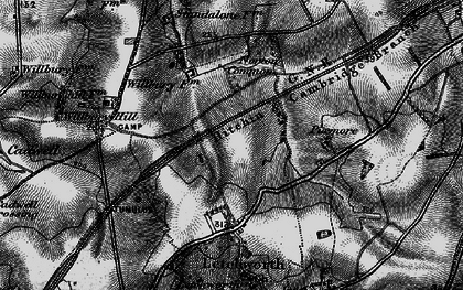 Old map of Letchworth Garden City in 1896