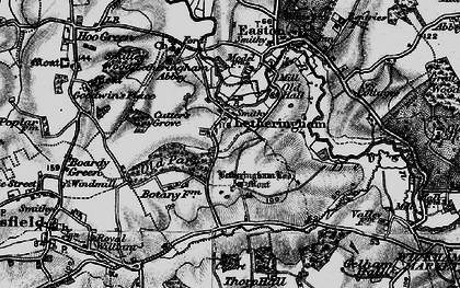 Old map of Letheringham in 1898