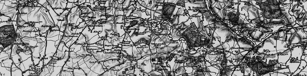 Old map of Letheringham Lodge in 1898