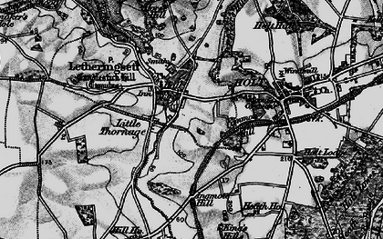 Old map of Letheringsett in 1899
