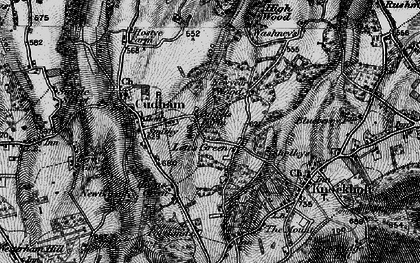 Old map of Lett's Green in 1895