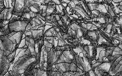 Old map of Lettaford in 1898
