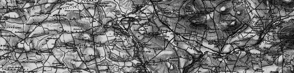 Old map of Letterston in 1898