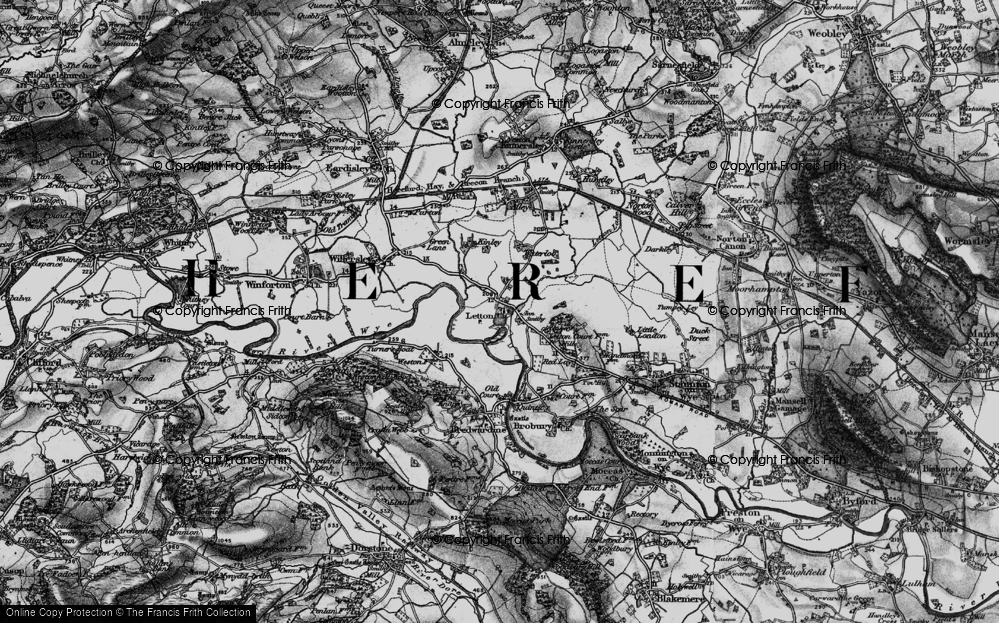 Old Map of Letton, 1898 in 1898