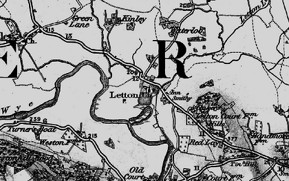 Old map of Letton in 1898