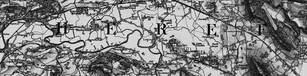 Old map of Weston, The in 1898