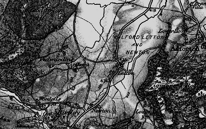 Old map of Letton in 1899