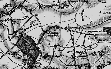 Old map of Letton Hall in 1898