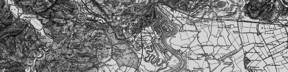 Old map of Level of Mendalgief in 1897