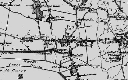 Old map of Leven Carrs in 1897
