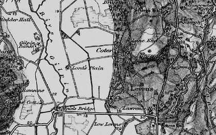 Old map of Levens in 1897