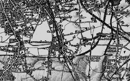 Old map of Levenshulme in 1896
