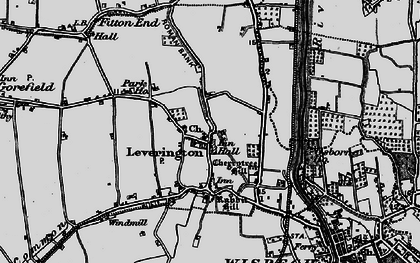 Old map of Leverington in 1898
